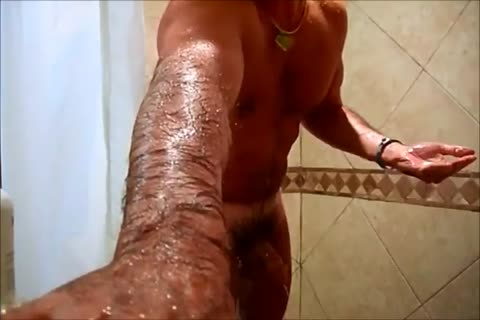 Soaping up my 10-Pounder in the shower