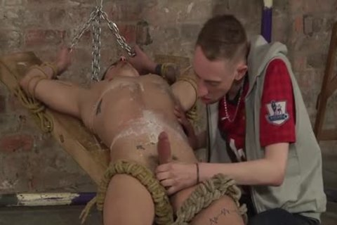 fastened Up Nathan Cums After Nathan palatable And Cold suck job