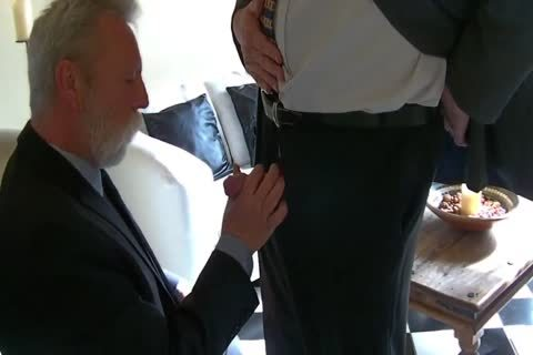 daddy Business males engulf rod And nail