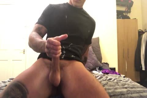 Tattooed Hunk strips And Jerks Off
