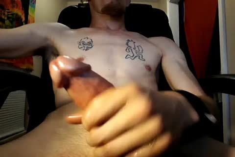 Stroking It again. giant cumshot