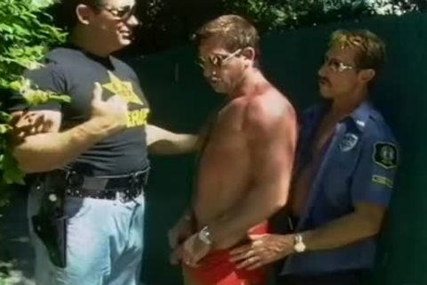 Two excited Cops acquire A lad On His Knees To engulf weenie