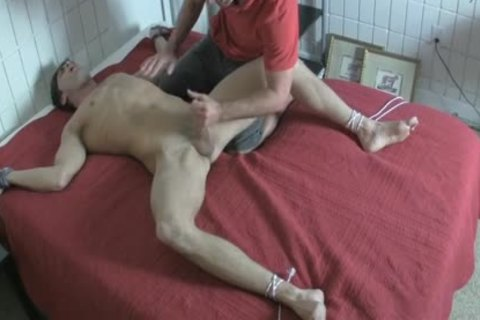 fastened Up Foot Tickle And torture