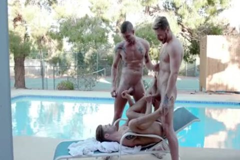 three-some Pool Party