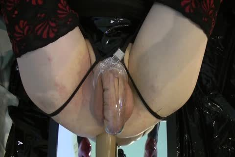 Sissy gets fucked Locked By The Machine